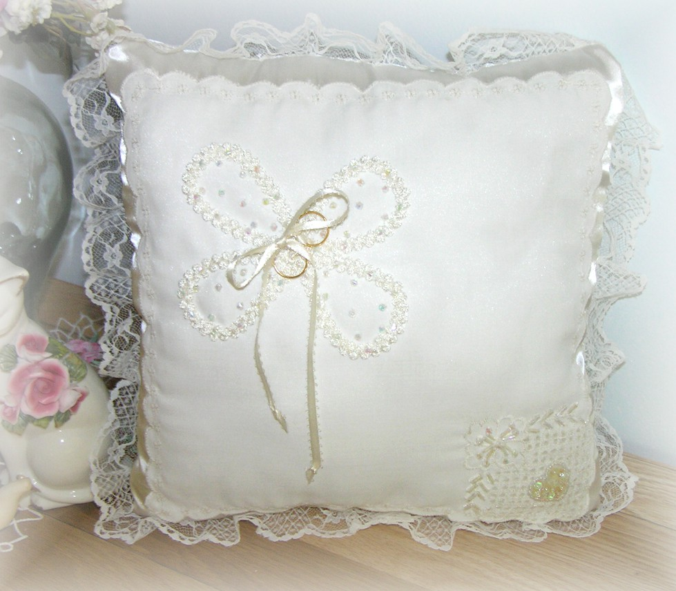 Kitty And Me Designs Wedding Ring Pillows New Project