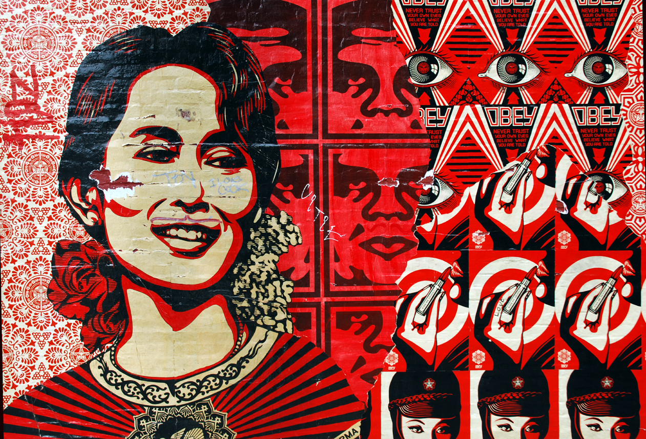 Gallery images and information: Obey Backgrounds