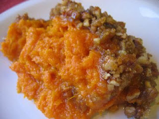 Your family will never look at sweet potatoes the same again after you make this sweet, creamy, crunchy Sweet Potato Casserole. #WomenLivingWell #sweetpotatoes #holidaymeals #easyholidaydishes