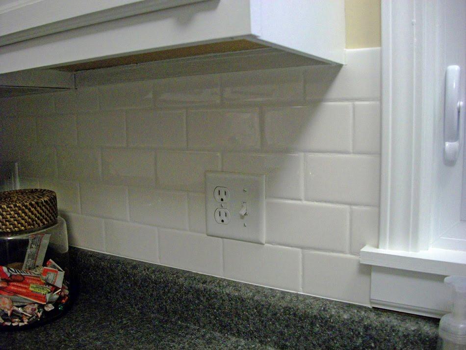 White Ceramic Subway Tile Backsplash: Can't Decide On Pendants Or Backsplash