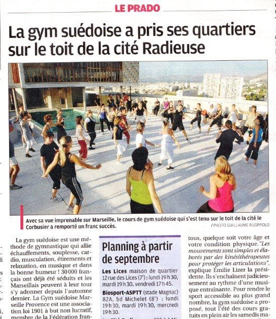la gym su doise dans le journal la provence. Black Bedroom Furniture Sets. Home Design Ideas