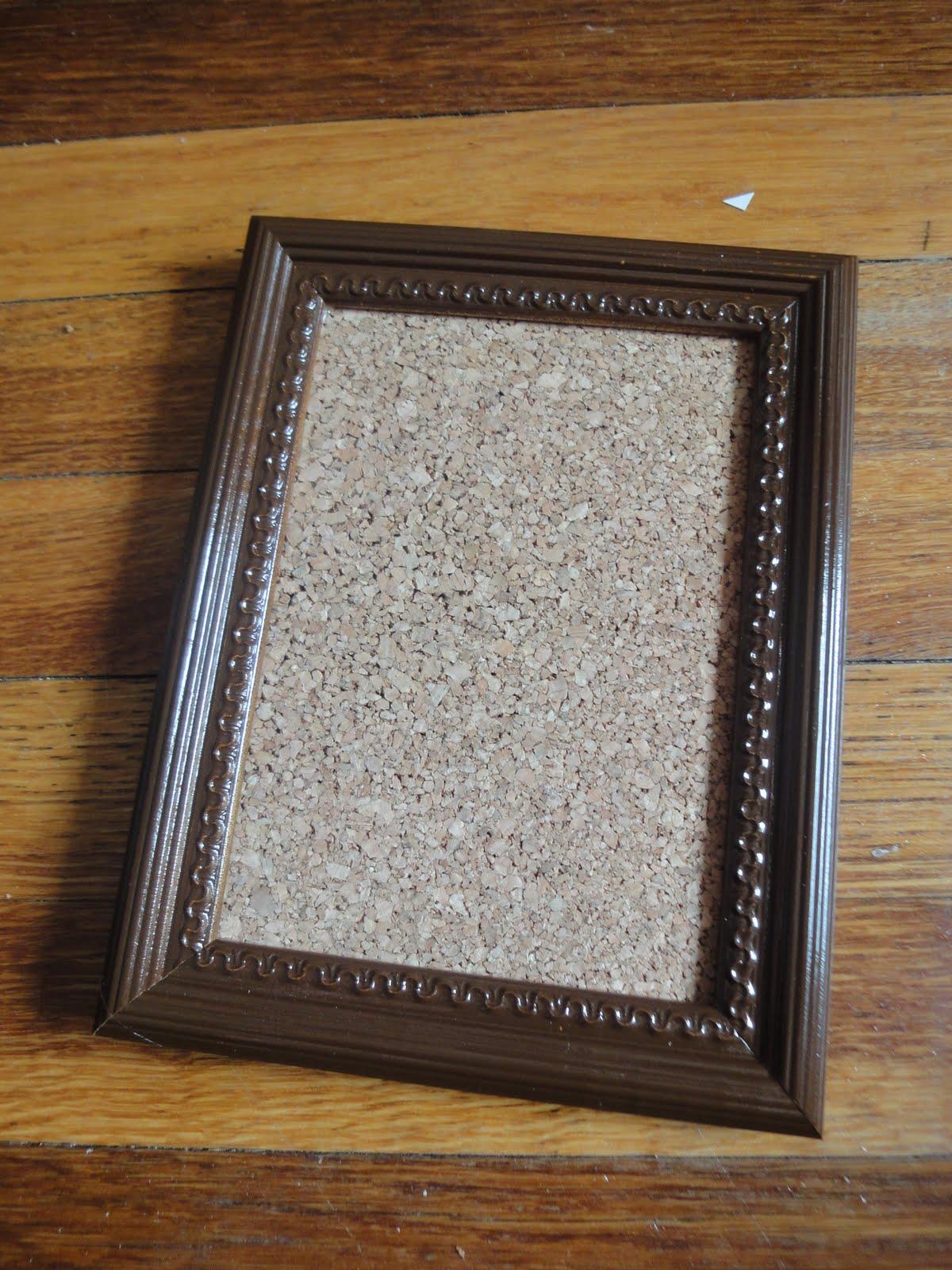 Better Life Blog: Cork Board Picture Frames