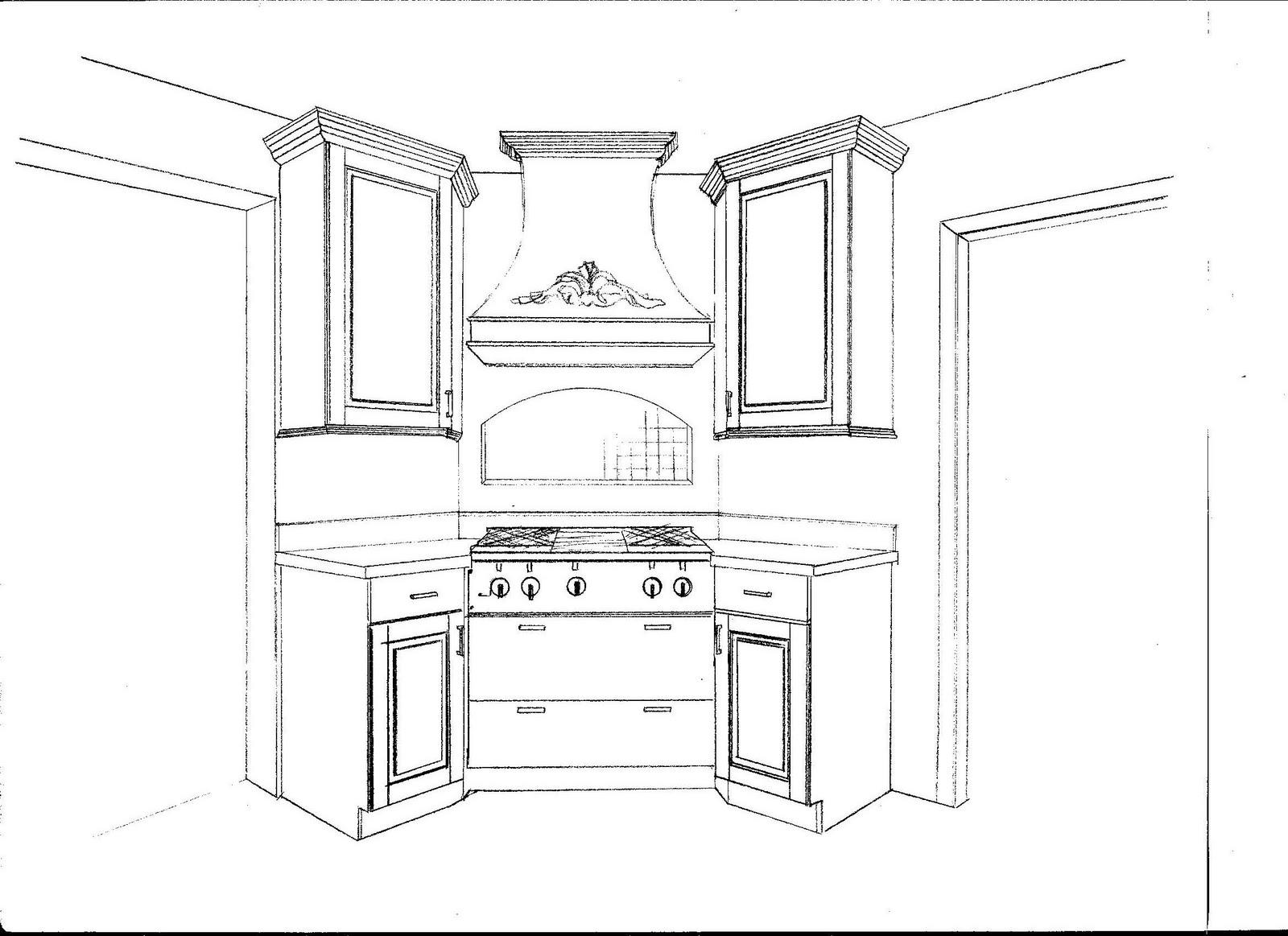 Kitchen Floor Plans Corner Stove