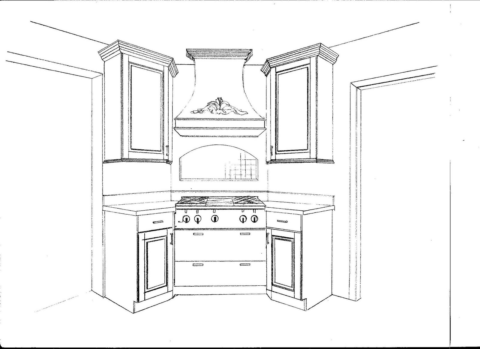 Jane - Cooktop In The Corner's Home: Plans: Kitchen Renderings