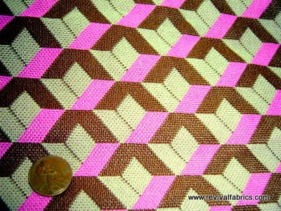 Op Art Optical Illusion Retro Fabrics