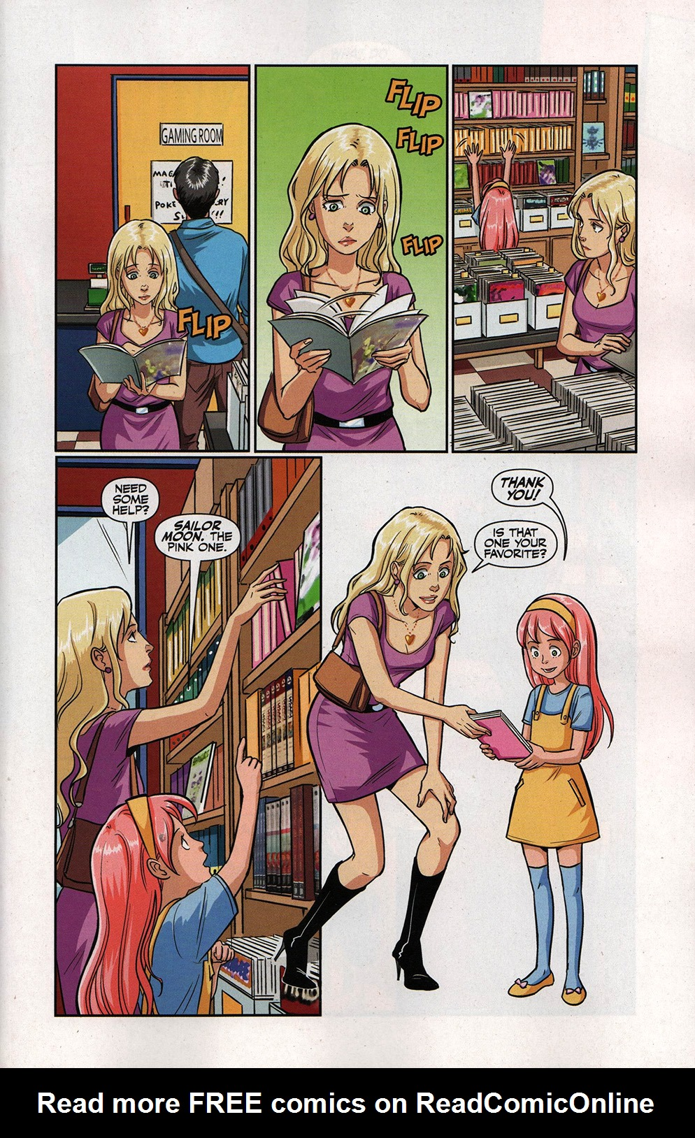 Read online Free Comic Book Day 2017 comic -  Issue # Buffy - Plants vs Zombies - 7