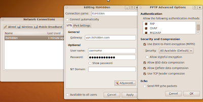 The Chronicles of Ubuntu: Karmic, VPN, ItsHidden com