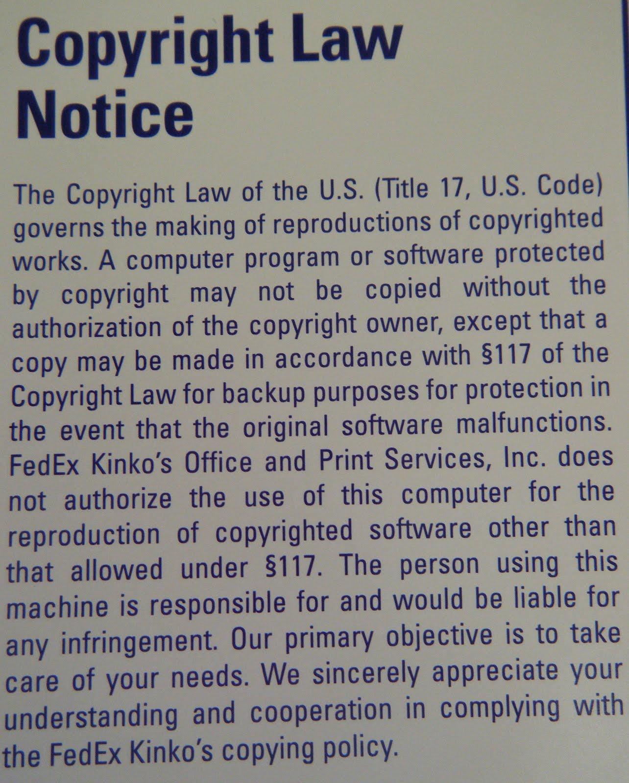 Recursively Enumerable: Copyright Education: A FedEx Kinko's