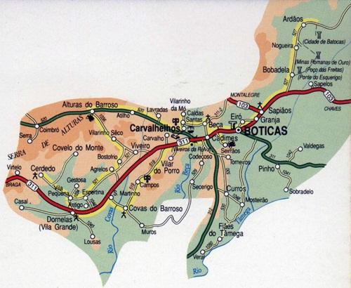 mapa de portugal boticas Passear em Portugal: Boticas   Região do Barroso mapa de portugal boticas