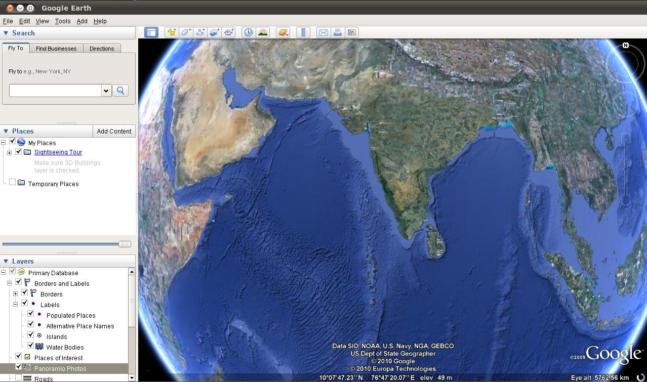 Install Google Earth in Ubuntu 10 04