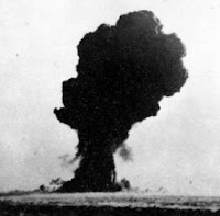 T2: Test:T2; Date:October 14 1953; Operation:Totem; Site:Emu Field, South Australia; Detonation:Tower Shot, altitude - 100ft(31m); Yield:8kt; Type:Fission