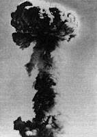 596-OKCLOUD: Test:596; Date:October 16 1964; Site:Lop Nur Test Ground; Detonation:Tower Shot, altitude - 329ft(102m); Yield:22kt; Type:Fission