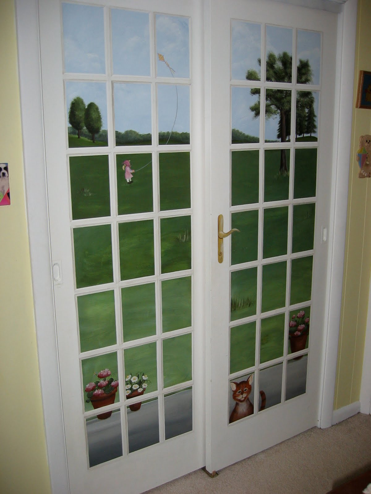 You Re Art By Corie Kline Painted Trompe L Oeil French Doors