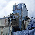 Draped in Blue - Working above 23rd St. in Chelsea.