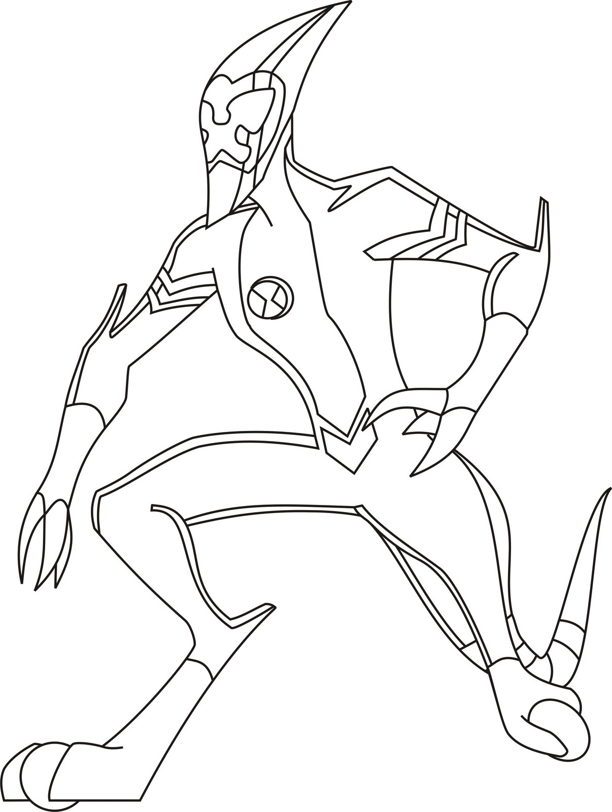 Ben 10 para colorir ben 10 colouring page junho 2010 for Ben 10 ultimate alien coloring pages