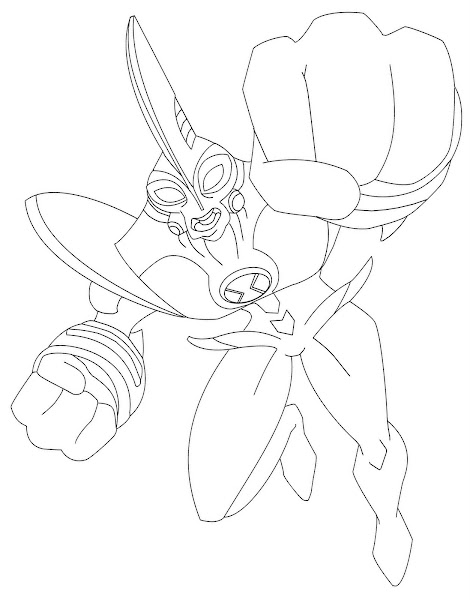 waybig coloring pages | Ben 10 Ultimate Alien Coloring Sheets – Colorings.net