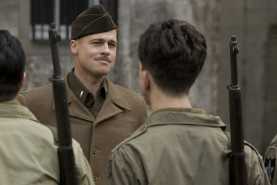 Inglourious Basterds directed by Quentin Tarantino and starring Brad Pitt