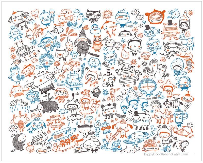 happy doodle land crazy happy doodles