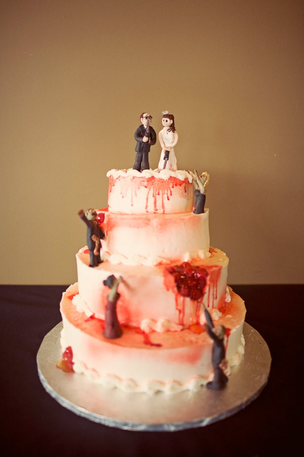 Lynn S Little Creations Featured Cake Zombie Wedding Cake