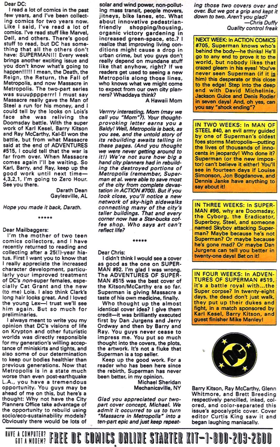 Read online Adventures of Superman (1987) comic -  Issue #518 - 25