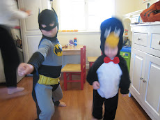 Batman and penguin