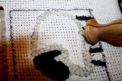 Back Side Of Sheep Mug Rug