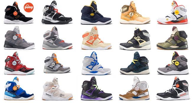 20 Reebok Pumps for 20 Years  The Complete Collection....DAMN I NEED THOSE  ATMOS AND COMMONWEALTH ONES....Each store is releasing like 30 pairs only f249a2e07