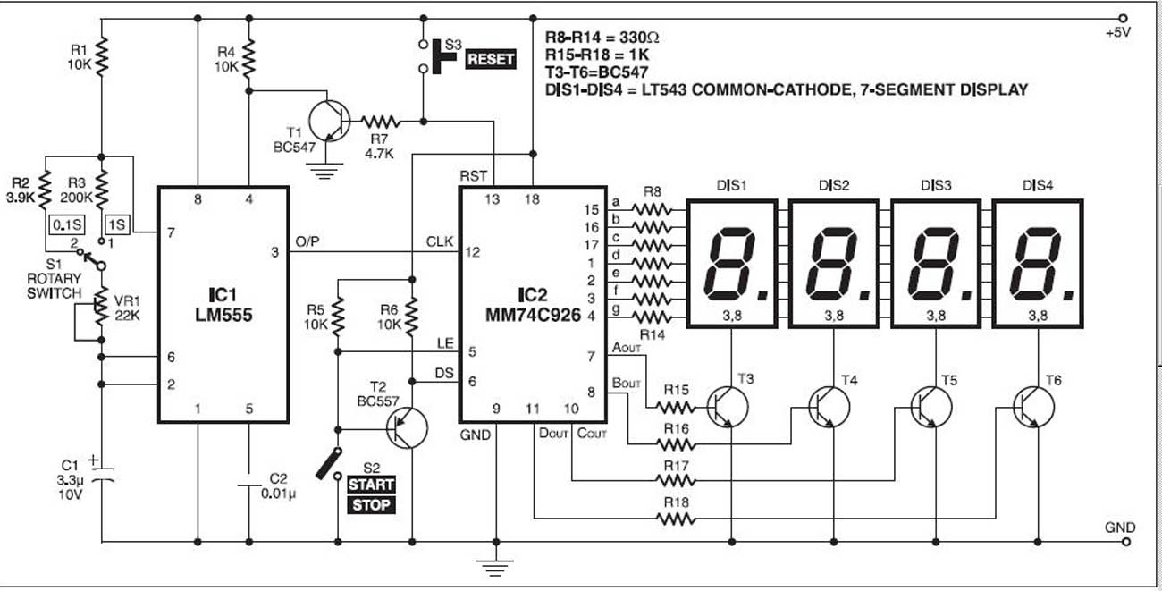 simple digital clock circuit explained circuit diagrams free electronic timer with display circuit simple schematic collection [ 1300 x 661 Pixel ]