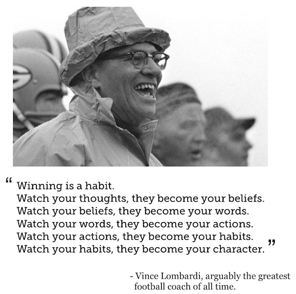 Vince Lombardi Quote: Happenstance: Super Weekend