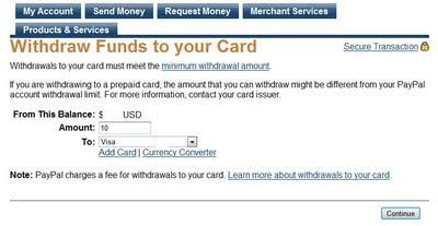 izņemt naudu no paypal