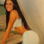 Andrea Rincon, Selena Spice Galeria 4 : Pantalon Azul y Top Transparente Foto 18
