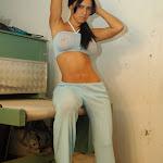 Andrea Rincon, Selena Spice Galeria 4 : Pantalon Azul y Top Transparente Foto 30