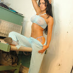Andrea Rincon, Selena Spice Galeria 4 : Pantalon Azul y Top Transparente Foto 39