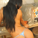 Andrea Rincon, Selena Spice Galeria 4 : Pantalon Azul y Top Transparente Foto 91