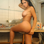 Andrea Rincon, Selena Spice Galeria 4 : Pantalon Azul y Top Transparente Foto 109