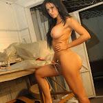 Andrea Rincon, Selena Spice Galeria 4 : Pantalon Azul y Top Transparente Foto 125