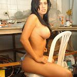 Andrea Rincon, Selena Spice Galeria 4 : Pantalon Azul y Top Transparente Foto 130