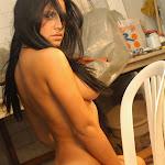 Andrea Rincon, Selena Spice Galeria 4 : Pantalon Azul y Top Transparente Foto 134