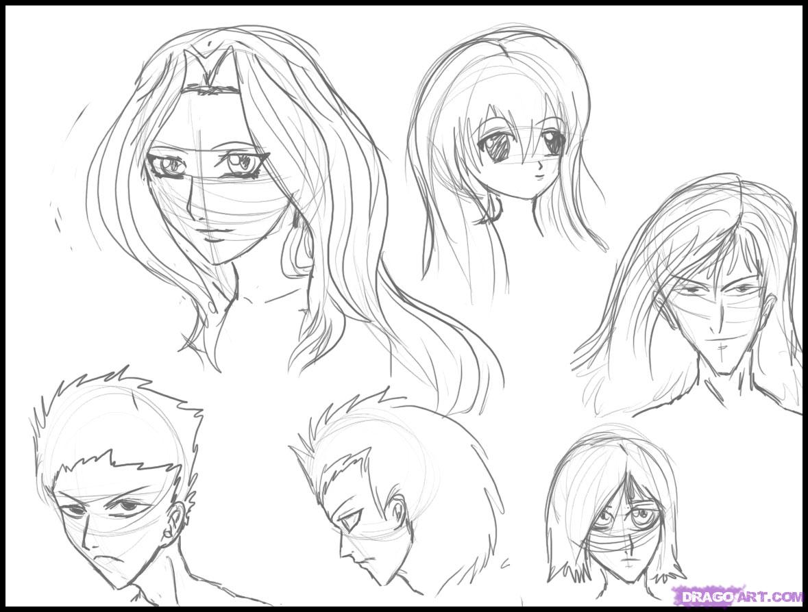 How To Draw Different Anime Hair