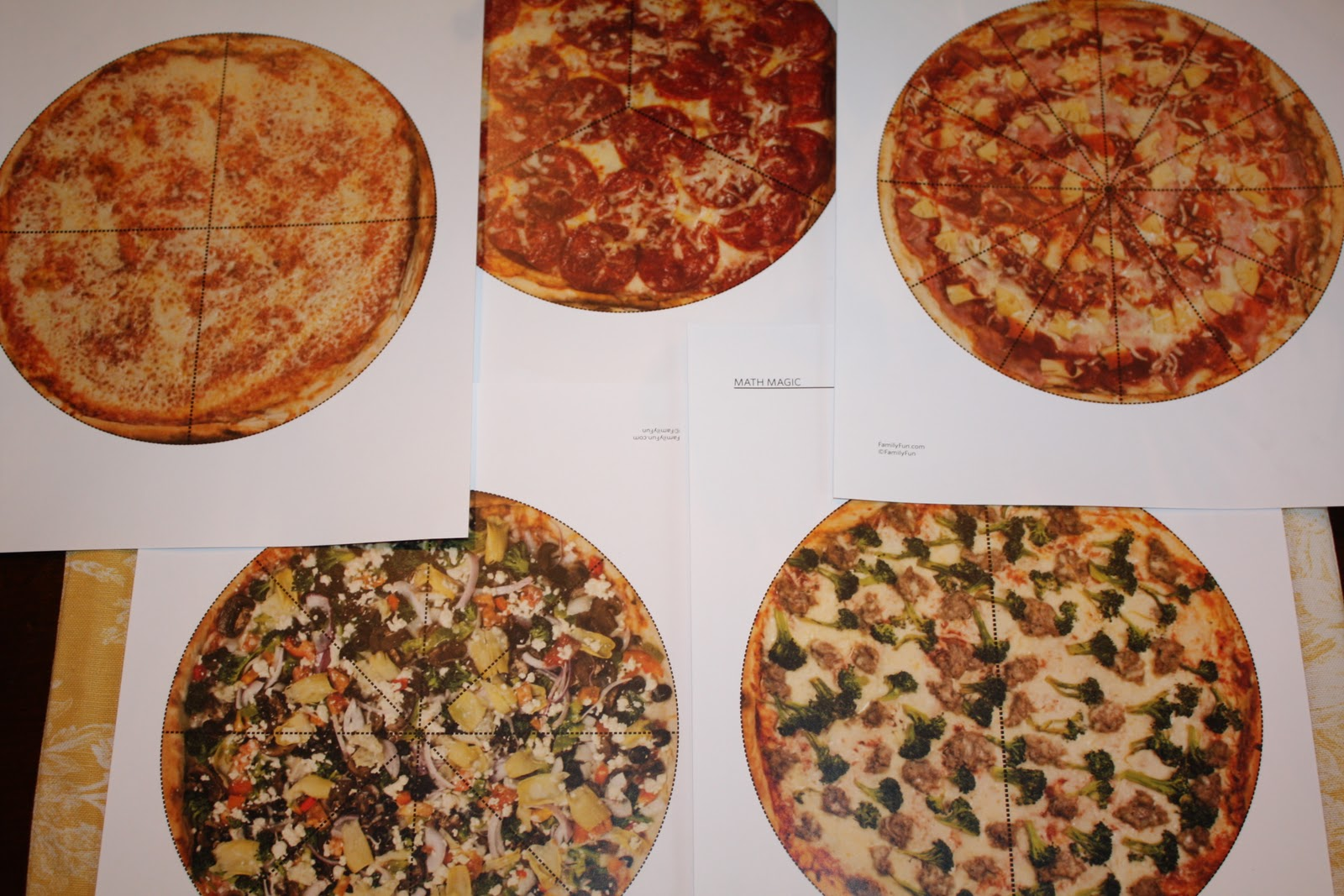 Sweet And Simple Things Pizza Fractions