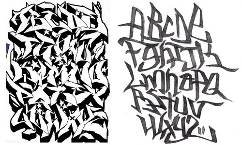New Grafity Art Image Graffiti Alphabet Alphabet Letter A Z