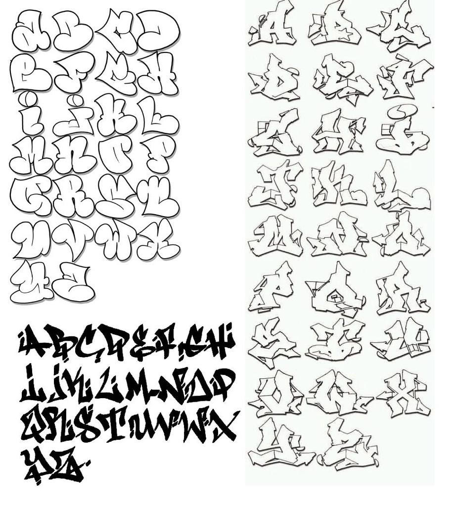 Letter Fonts And Styles A Z