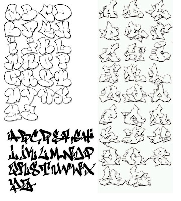 different stylish ways of writing alphabets printables