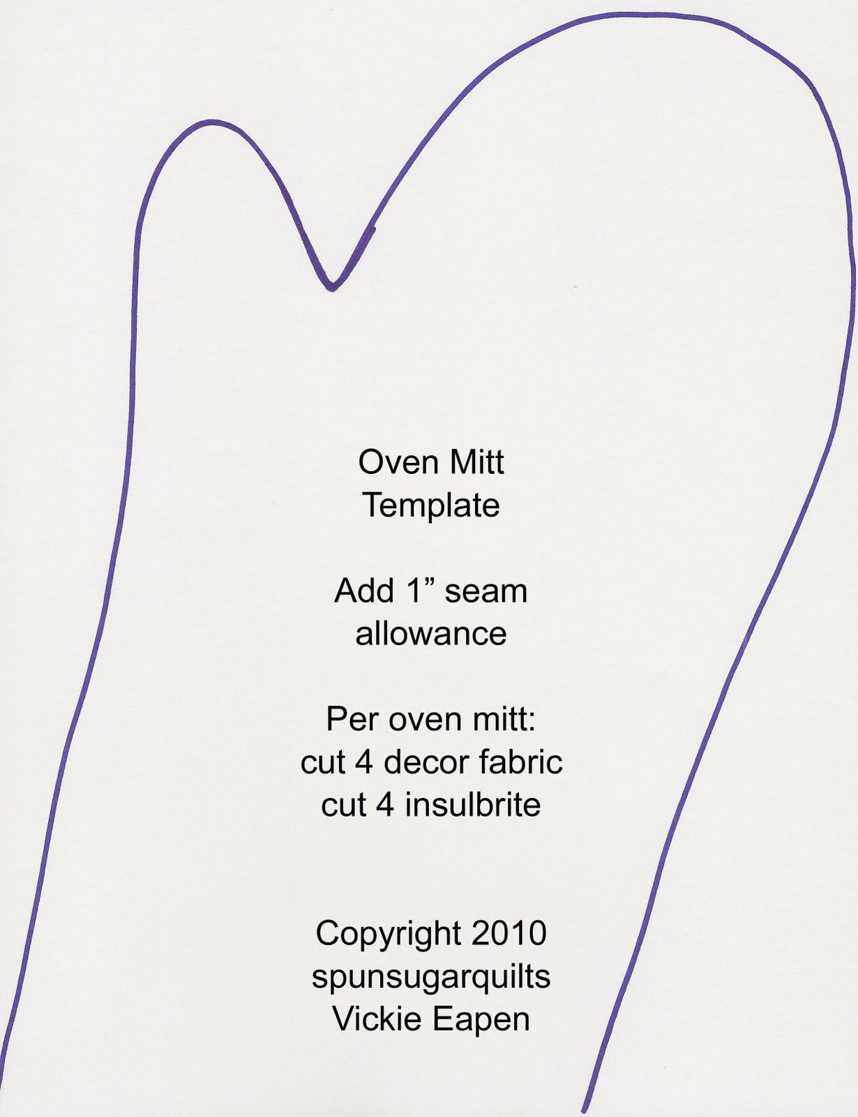 Oven Mitt Pattern Template