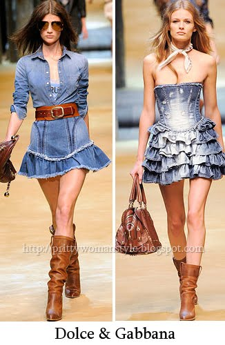 дънкови роклички