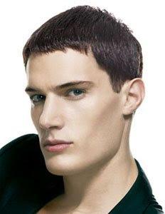 Мъжка прическа къса коса