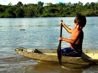 Bewohner des Amazonasregenwaldes