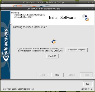 Mi Ubuntu Latino: Instalar Office 2007 en Ubuntu con CrossOver
