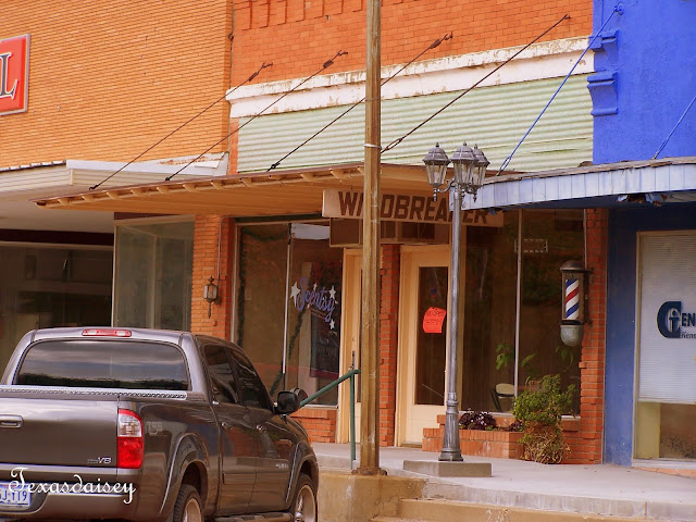 Downtown Seymour, Texas Barber shop