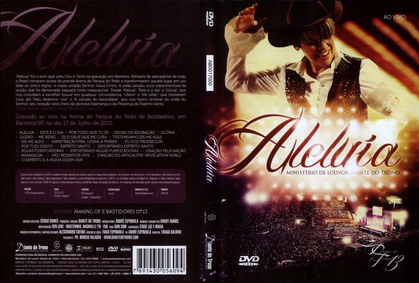 dvd diante do trono aleluia avi